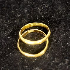 ".9999 SOLID 24k YELLOW GOLD RING 5gms TWO ""BAMBOO"" BANDS 3mm Wide SIZE 7 3/4    #Unabletoread #Band"