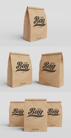 Free Paper Bag PSD Mockups #freepsdfiles #freepsdmockups #freemockuptemplates