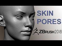 Easy Zbrush - Creating Skin Pores in Zbrush 2018 - YouTube