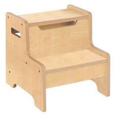 Guidecraft Expressions Natural Step Stool   from hayneedle.com