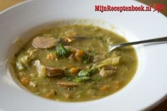 Dutch Recipes, Soup Recipes, Healthy Recipes, Soup Stock Image, Green Pea Soup, Healthy Slow Cooker, Fruit Drinks, Winter Food, Sausage