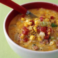 Summer Corn Bacon and Potato Chowder