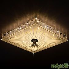 moderno de cristal cuadrado w luz de techo led lmpara saln porche iluminacin d