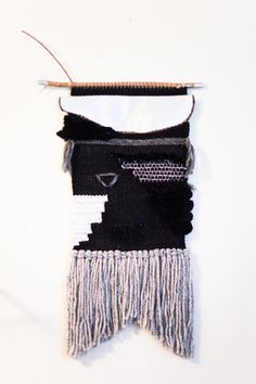 cooper / wall hanging weaving tapestry with tassels by habit studio on etsy