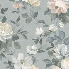 The wallpaper pattern Peony from Boråstapeter Peony wallpaper Large Floral Wallpaper, Flower Phone Wallpaper, Home Wallpaper, Textured Wallpaper, Paper Background, Background Patterns, Gray Background, Box Art, Pattern Wallpaper