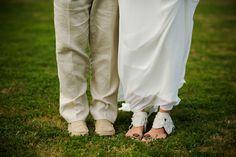 Cute pairing!   Groom: Crocks. Bride: http://www.etsy.com/people/feesk