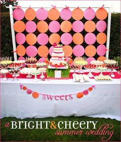 pink and orange party