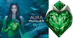 А new fragrance pillar by Mugler! The very new perfume AURA by Mugler is coming out towards the end of June - beginning of July 2017. The timing seems perfect for a lush green fragrance as it is visualized in the advertising and flacon design.  Thierry Mugler has been always an example of a great perfume house delivering masterpieces, as well as a commercially successful perfume business. We lost track counting the flanke