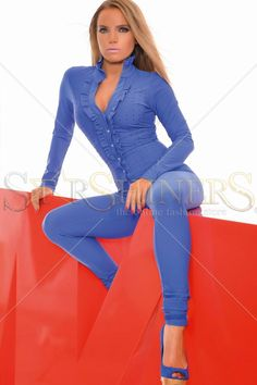 MissQ Sweet Tripping Blue Jumpsuit