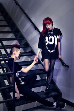 ESSY♀NOIR: Boy London En Noir Harajuku, Grunge, Boy London, Japanese Fashion, Fashion Pictures, Kimono, Kawaii, Punk, Style Inspiration