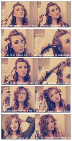 Wavy messy hair tutorial
