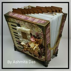Accordion Tag Box with the #prima #butterfly #papercollection #accordiontagbox