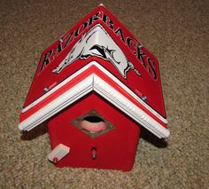 Check out this item in my Etsy shop https://www.etsy.com/listing/255874124/arkansas-razorbacks-bird-house-license