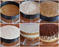 mod de preparare tort cu nuca si mousse de caramel 1