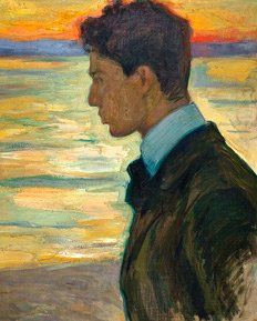 1910 'Portrait of son Boris', Leonid Osipovich Pasternak (1862~1945 UK) | Russian Post Impressionist Painter