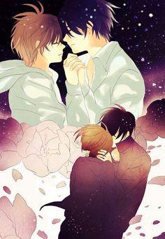 Takano Masamune x Onodera Ritsu (Junjou Nostalgic) Sekai Ichi Hatsukoi Happy Tree Friends, Awesome Anime, Anime Love, Yuri, Vocaloid, Junjou, Ex Amor, Shounen Ai, Cute Images