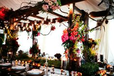 In love with this boho reception decor.