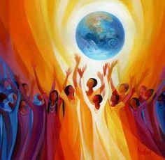 Women Singing Earth, by Mary Southard, from: the spirit that moves me: Our sacred stories