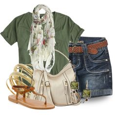 """""""Olive Top"""" by colierollers on Polyvore"""