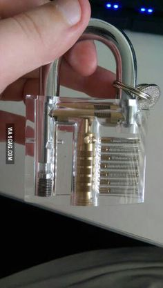 Want to be a master lock picker. Start practising now - 9GAG