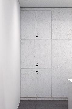 office fit-out - OSB fronts to storage - W - XXXXX, Japan - Torafu Architects