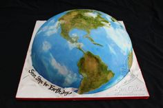 Happy Earth Day - Earth Cake