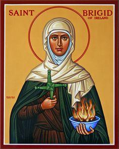 St. Brigid of Ireland, pray for us! [Feastday February 01]