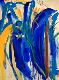 Mary Abbott - Spanierman Gallery LLC, Untitled (Blue), Oil on canvas, 47 x 35 inches Expressionist Artists, Abstract Expressionism, Abstract Art Images, Australian Painting, Abstract Painters, Art Education, Female Art, Painting Art, Paintings