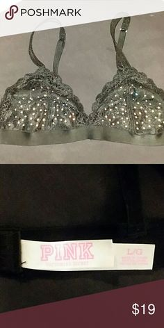 💎FINAL PRICE PINK Victoria's Secret Glam Bralette 💎💎🎀PINK Victoria's Secret Glam Bralette🎀💎💎. Brand New never worn. 11/10. All rhinestones perfect, NONE missing! SMOKE FREE HOME BUNDLE & SAVE. 💎💎💎😊😊😊 FINAL PRICE. PRISTINE & FLAWLESS.💎 PINK Victoria's Secret Intimates & Sleepwear
