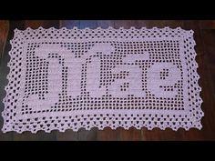Free Crochet Doily Patterns, C2c Crochet, Filet Crochet, Crochet Doilies, Crochet Alphabet, Curtain Patterns, Crochet Woman, Needlepoint, Diy And Crafts
