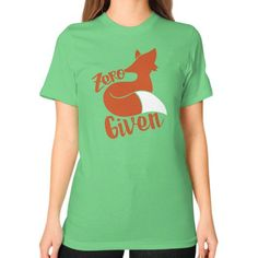 Zero Fox Given Unisex T-Shirt (on woman)
