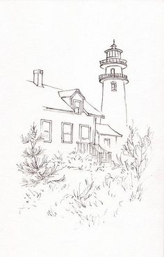 Everyday Artist: Step-by-Step Watercolor Painting: Highland Light - Cape Cod Art Painting, Lighthouse Painting, Art Drawings, Step By Step Watercolor, Watercolor Paintings, Watercolor Landscape, Everyday Artist, Lighthouse Drawing, Landscape Drawings