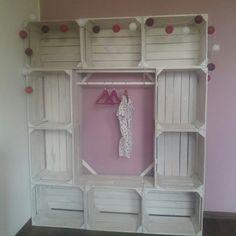 szafa garderoba ze skrzynek