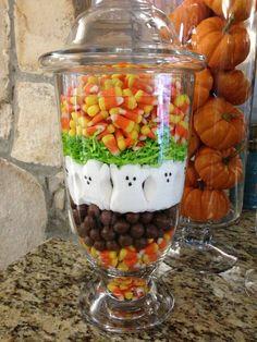 Peeps Halloween decorations! Apothecary jars!