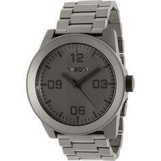 Nixon Men's Corporal Ss A3461062 Grey Stainless-Steel Quartz Watch
