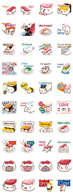 Kawaii Sushi Planner Stickers | Sushi Stickers | Japanese Food ...