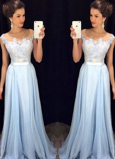 long Prom Dresses, 2016 Evening Gown, light blue Prom dress,cheap prom dress,formal evening dress, charming party dress, PD10241