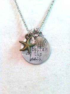 Life Is Better At The Beach Metal Stamp Necklace by byAmandaJane, $18.00