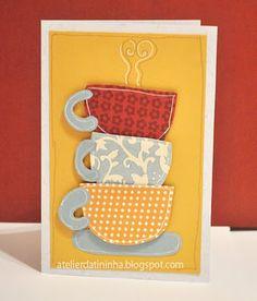 Cartão artesanal utilizando moldes de patchwork e folkart #PAP #tutorial #DIY #paperpiecing #papercrft #cardmaking