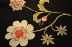 wool embroidery, my own pattern.