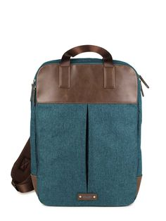 6906f9ed0720f OLLI O22    Rucksack    backpack    unisex    Kunstleder    Materialmix     forest    brown    chili    denim    stone    noir