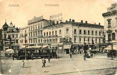 Katowicki rynek przed 1922 rokiem. Na zdjęciu północna pierzeja rynku. Wyburzono ją po 1945 roku. Zdjęcie ze zbiorów Marka Wójcika #katowice #history