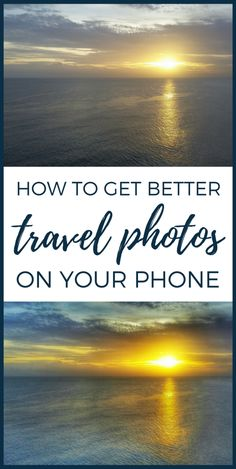 This is a beginner's tutorial to a free photo editing app for iphone and android smartphones. The Snapseed app is easy to use to give you the best travel pictures for Instagram posts! If you're starting a blog, it can give you better lifestyle blog and travel blog photography when you don't have a proper travel camera or DSLR camera and you're taking pictures on a camera phone. This travel picture: Ocean sunset photography in the Caribbean during a cruise.