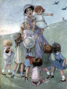 Art by Honor C. Appleton (1911) from William Blake's INNOCENCE SONGS.