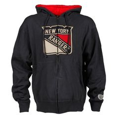 For John! Mens New York Rangers Old Time Hockey Navy Blue Conway Full Zip Hoodie