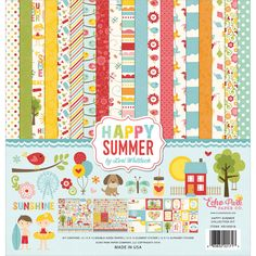 """Echo Park Collection Kit 12""""x12"""" - Happy Summer"""