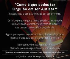 Espectro do Autismo, PEA Perturbação do Espectro do autismo, TEA Transtorno do Espectro do Autismo (pt br), Preconceito Pride