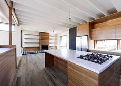 "Kitchen shot of a house in Sydney designed to ""look better in 20 years""."