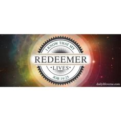 #InstaSize #dailylifeverse #versefortheday #BlessedSunday #Godislove My Redeemer Lives Job 19:25 by @reylkastro via http://ift.tt/1RAKbXL