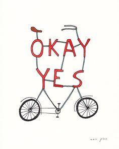 okay yes bicycle